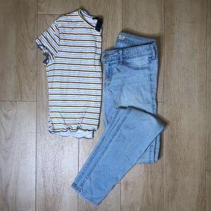Hollister Light Washed Skinny Jeans   1L